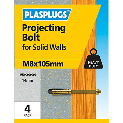 Image for Plasplugs Projecting Anchor Bolt M8 x 105mm from StoreName