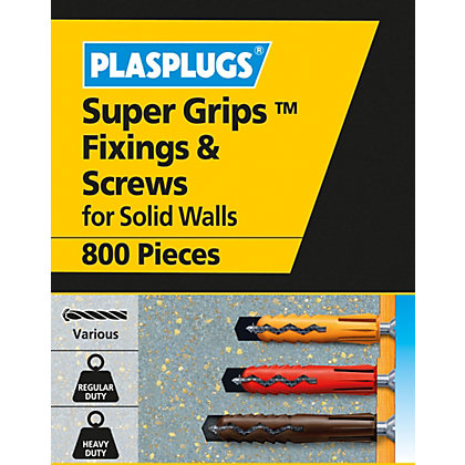 Image for Plasplugs Wall Plugs Mixed Bulk - Pack of 1000 from StoreName