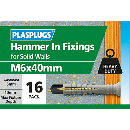 Image for Plasplugs Hammer In M6 x 40 from StoreName