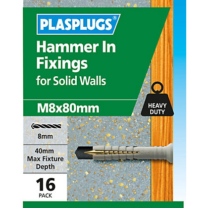 Image for Plasplugs Hammer In M8 x 80 from StoreName
