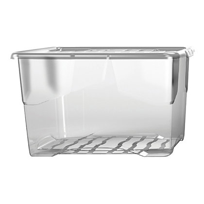 Image for Curve 24L Storage Box with Clear Lid from StoreName