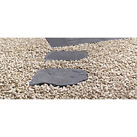 Stylish Stone Natural Random Stepping Stone 600x400mm - Charcoal