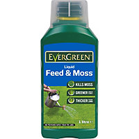 Evergreen Liquid Lawn Food & Moss Killer - 1L - 67sq m range