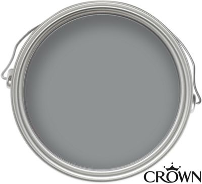 Homebase crown solo silver mine one coat gloss paint 750ml customer reviews product for One coat exterior paint reviews