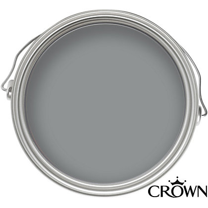 Image for Crown Solo Silver Mine - One Coat Gloss Paint - 750ml from StoreName