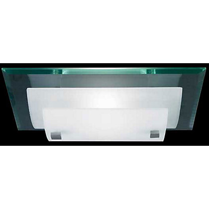 Image for Eden Flush Light - Frost/Glass from StoreName