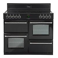 Belling Classic 100E Electric Range Cooker - Black