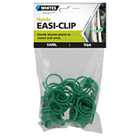 Whites Easi Clips Swirl Shape - Green (Pack of 50)