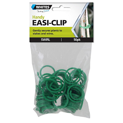 Image for Whites Easi Clips Swirl Shape - Green (Pack of 50) from StoreName