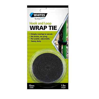 Image for Whites Wrap Tie - Black -/ 12mm x 1.5m from StoreName