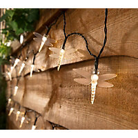 35 Solar Dragonfly String Lights