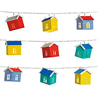 10 Nautical Beach Hut Solar String Lights