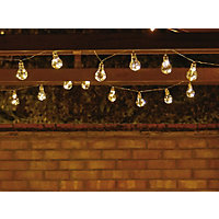 10 LED Solar Bulb String Lights