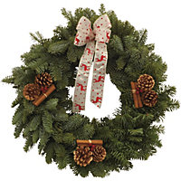 Decorated Wreath 12in - Red
