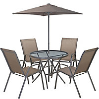 Andorra Bronze Metal 4 Seater Garden Furniture Set