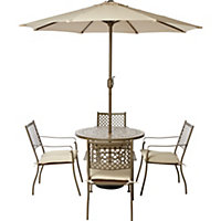 Tuscany Metal 4 Seater Garden Furniture Set