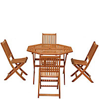 Austin Wooden 4 Seater Garden Furniture Set