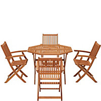 Austin Wooden 4 Seater Garden Furniture Set with Armchairs