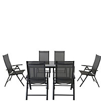 Petersburg Metal 6 Seater Garden Furniture Set