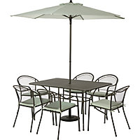 Ontario 6 Seater Garden Furniture Set