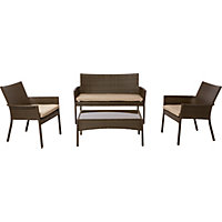 Mali Rattan Effect Stacking Sofa Set