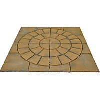 Brett Walton Paving Circle with Corners 2.17m 4.71sq m 48 Pack - Copper Glow