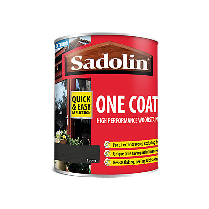 Image for Sadolin Advanced One Coat Ebony Woodstain - 750ml from StoreName