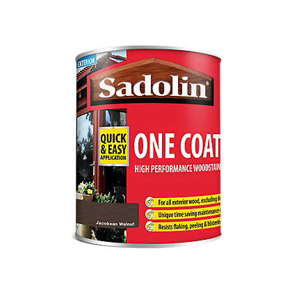 Image for Sadolin Advanced One Coat Jacobean Walnut Woodstain - 750ml from StoreName
