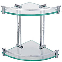 Mondella Cadenza Double Corner Glass Shelf
