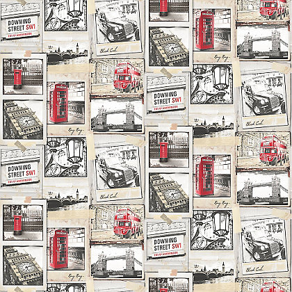 Image for Superfresco Easy London Underground Red Wallpaper from StoreName