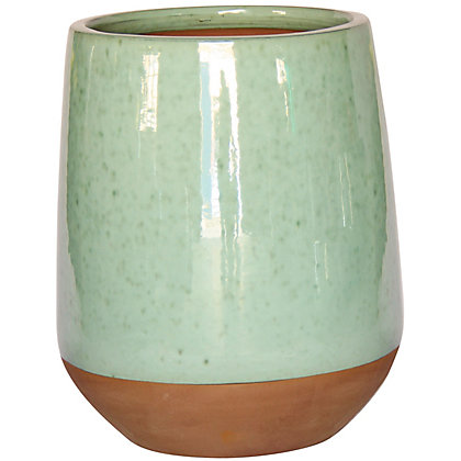 Image for Tall Glazed Ceramic Green Pot - 50.5cm from StoreName