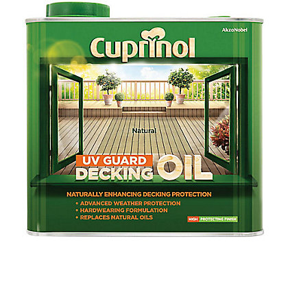 Image for Cuprinol UV Guard Decking Oil - Natural - 2.5L from StoreName
