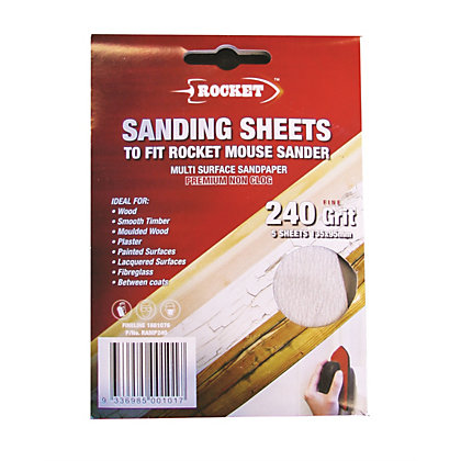 Image for Rocket Mouse Sanding Sheet - 240g - 5 pack from StoreName