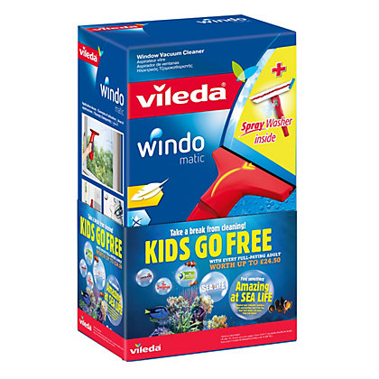 Image for Vileda Windowmatic Cordless Window Vacuum Cleaner with Spray Washer from StoreName