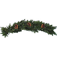Fresh Decorated Garland 1m - Red