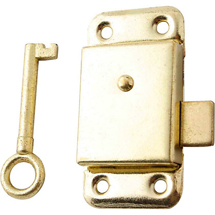 Image for Cupboard Lock - Brass Plated - 64mm from StoreName
