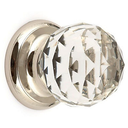 Image for Wardrobe Door Knob - Glass and Nickel - 50mm from StoreName