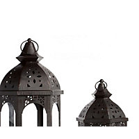 Moroccan Lanterns in Black (Pack of 3)