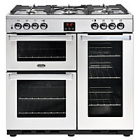 Belling Cookcentre 90DFT PROF Dual Fuel Range Cooker - 90cm - Stainless Steel