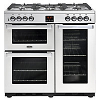 Belling Cookcentre 90G PROF Gas Range Cooker - 90cm - Stainless Steel