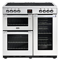 Belling Cookcentre 90E PROF Electric Range Cooker - 90cm - Stainless Steel