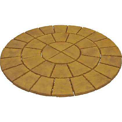 Image for Brett Walton Paving Circle 1.85m 2.69sq m 36 Pack - Honey Gold from StoreName