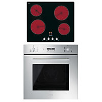 Smeg 60cm Cucina Multifunction Oven and Ceramic Hob Pack