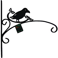 Ornate Bird Garden Bracket - Black