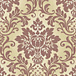 Grandeco Fabric Damask Red Wallpaper