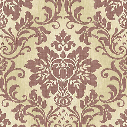 Image for Grandeco Fabric Damask Red Wallpaper from StoreName