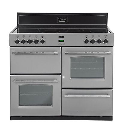 Image for Belling Classic 100E Electric Range Cooker - Silver from StoreName