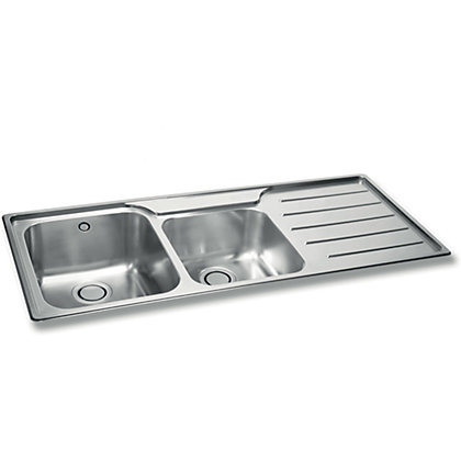 Image for Carron Phoenix Isis 175 Stainless Steel Kitchen Sink - 2 Bowl from StoreName
