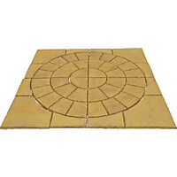 Brett Walton Paving Circle with Corners 2.17m 4.71sq m 48 Pack - Honey Gold