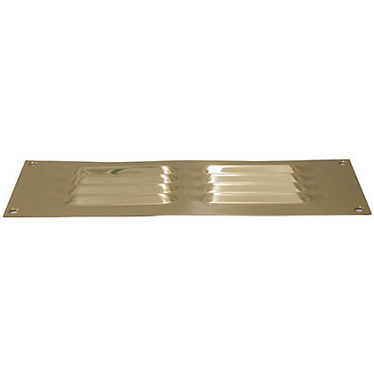 Image for Louvre Vent - 229 x 76mm - Brass from StoreName